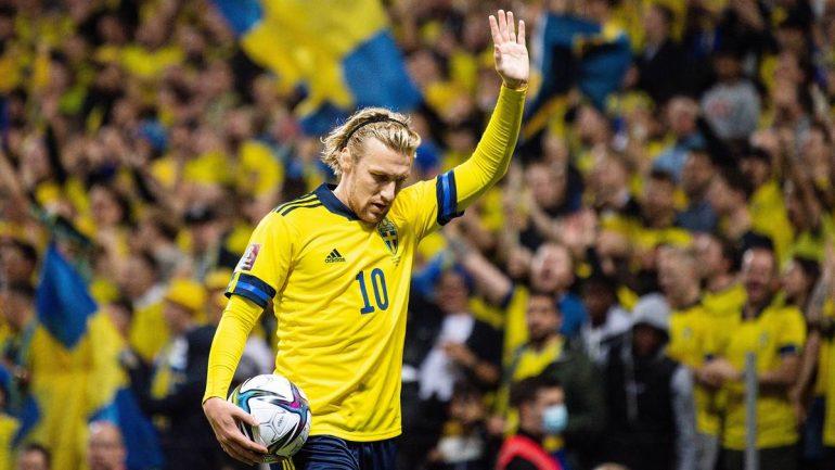 Emil Forsberg von RB Leipzig brachte Schweden gegen den Kosovo in Führung.